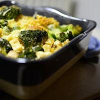 Brokkoli-Pilz-Auflauf mit Vollkornnudeln