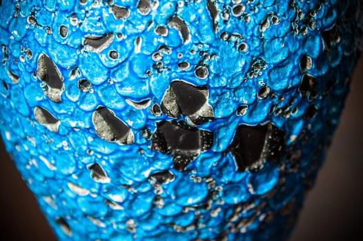 Fat Lava vase, blue, West German 1