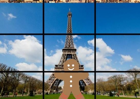 Photo centrée Tour Eiffel Paris