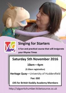 Singing for Starters Flyer November 2016