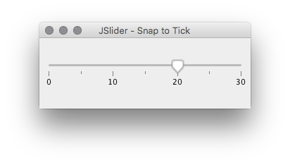 JSlider Snap to Tick