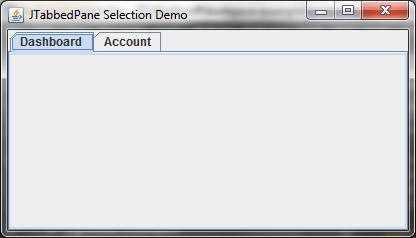 Tabbed Pane Selection