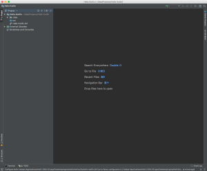 HelloKotlin Project in IntelliJ IDEA CE