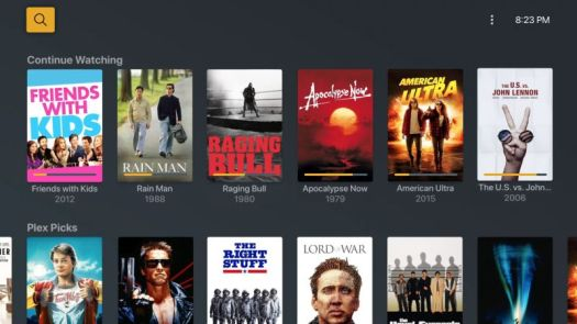 Movies and TV shows on Plex