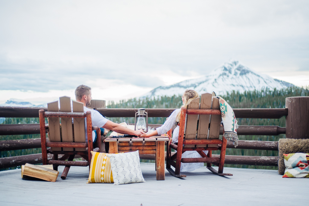 Reilly and Corey: Couples photos in Big Sky, Montana : Montana Engagement Photographer