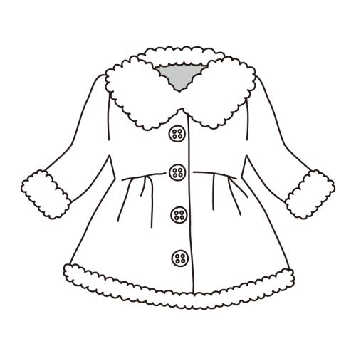 子供 コート イラスト 白黒 モノクロ