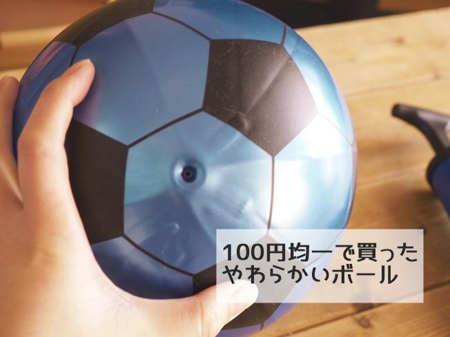 100円均一で買った柔らかいボール