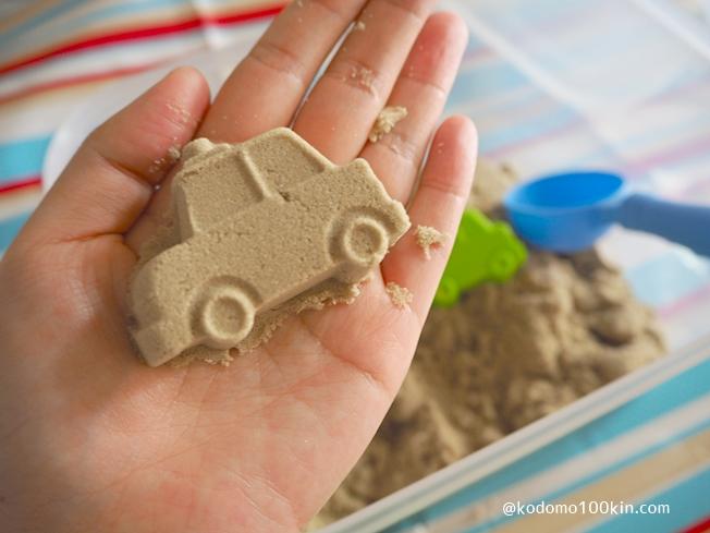 ダイソーお部屋で砂遊び 車の型