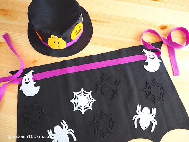 ハロウィン仮装手作り シルクハットとマント ドラキュラ仮装セットが完成