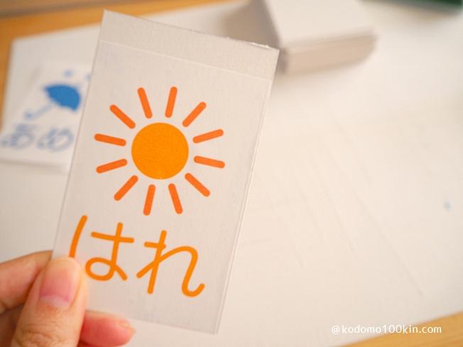 手作り万年カレンダー 日付カードのベースに貼り付ける