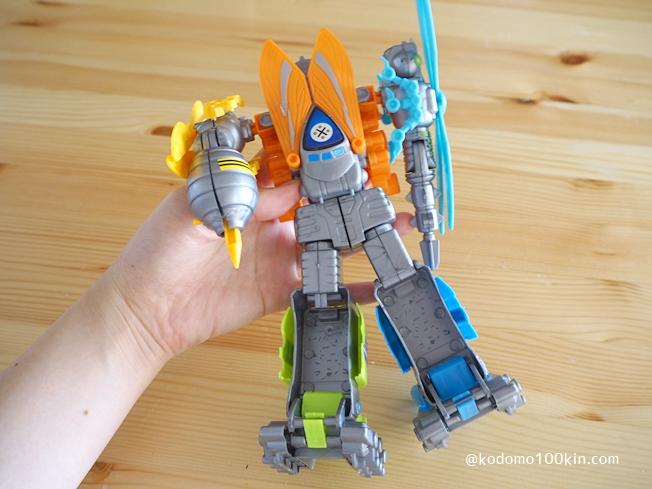 ロボットの後姿|5種類の昆虫がロボットに変形合体 バグズロゴファイブ(BUGS ROBOT FIVE)