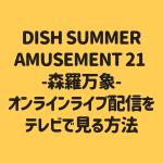 DISH SUMMER AMUSEMENT 21 -森羅万象- オンラインライブ配信を テレビで見る方法