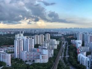 朝靄のシンガポールの景色