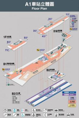 「桃園空港MRT台北駅」構内を完全レポート