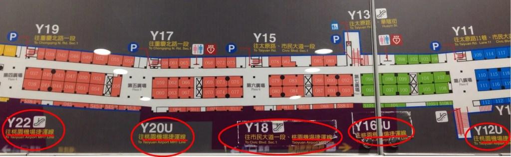 台北地下街Y区地図