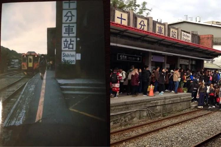天燈上げ(ランタン)体験で有名な台湾「十分」の今・昔を写真で比べてみた