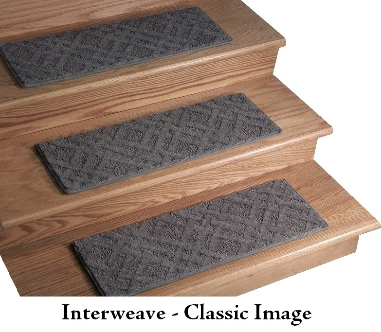 Interweave Ii Dog Assist Carpet Stair Treads   Thick Carpet Stair Treads   Stair Runner   Montauk Linen   Flooring   Skid Resistant   Grey