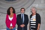 Angela Kanya mit Joaquim Llimona i Balcells und Monica Batlle