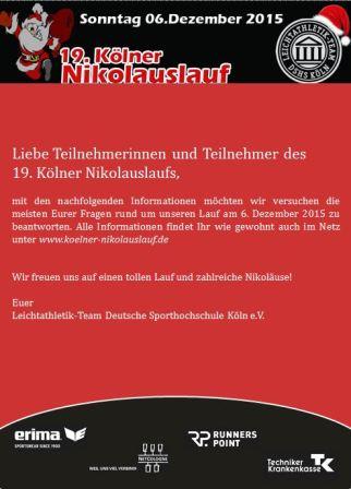 Nikolauslauf Köln Startbild 2015