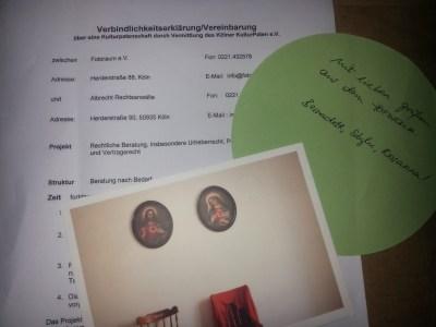 VerbindlichkeitserklärungRAe Albrecht und Fotoraum Köln e.V.
