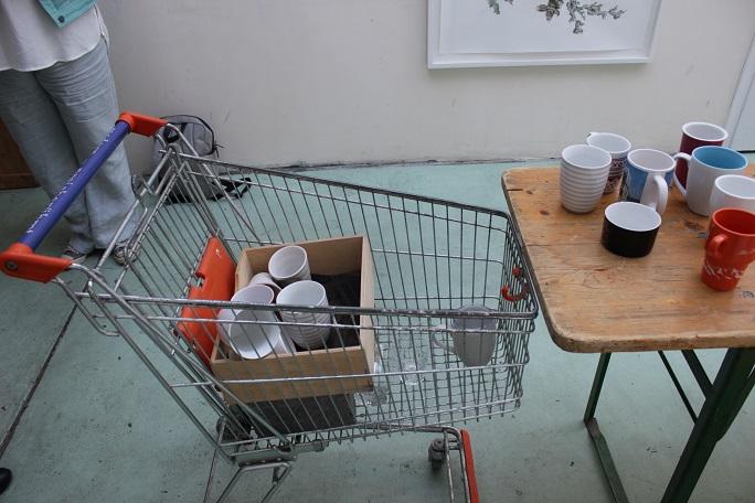 Kaffee und heiße Waffeln gab es auch
