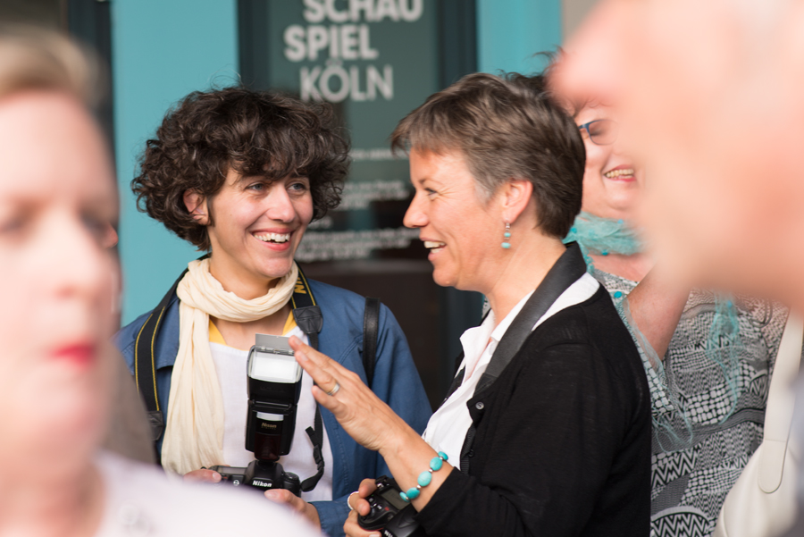 Fotografinnen unter sich: Rosanna D'Ortona und Anja Schlamann