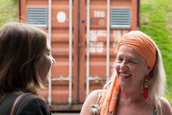 Edith Strunk trifft Angie Hiesl und ihren Manager Burkhardt Siedhoff