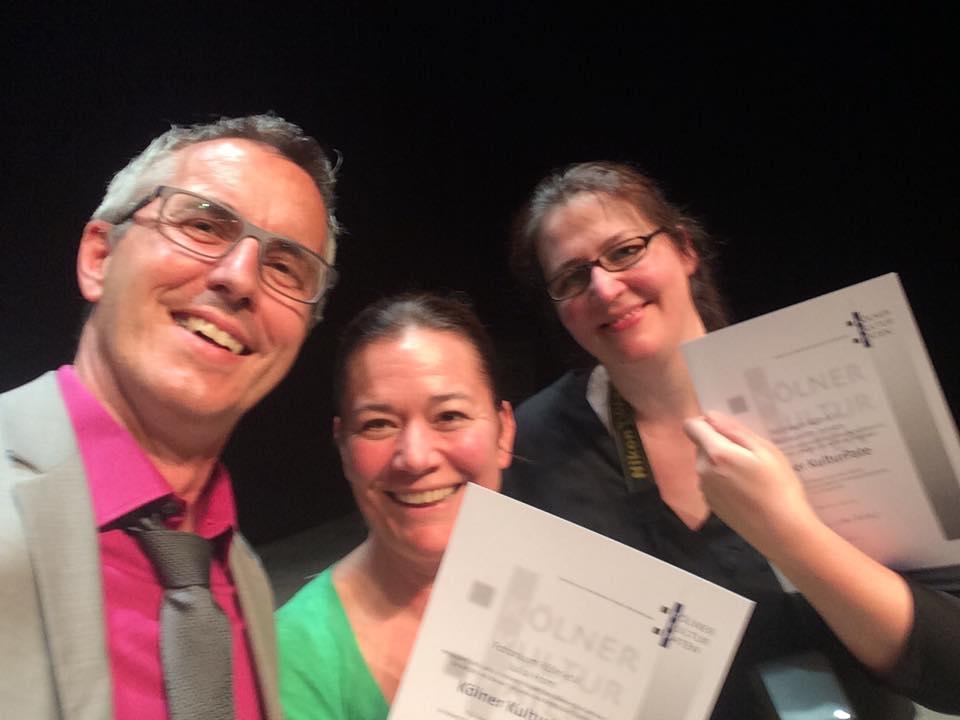 Bürgermeister-Selfie mit Julia Horn und Bernadette Jansen