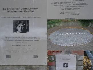 Der John Lennon - Circle im Friedenspark
