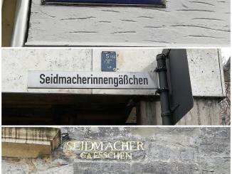 Drei Straßennamen für eine Straße – Das Seidmacherinnengäßchen