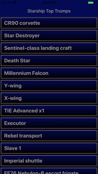 Finished starship list