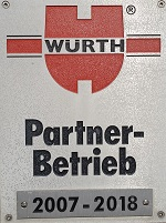 WÜRTH-Partner-Betrieb 2007-2018