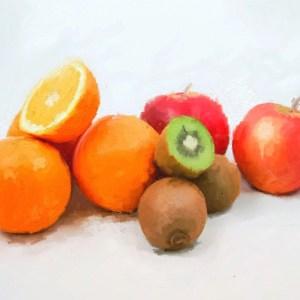 Frisches Obst in der Küche.
