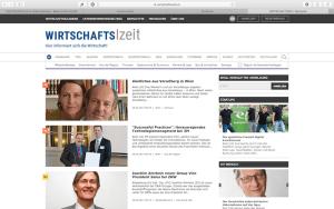 Startseite von wirtschaftszeit.at mit dem Teaserbeitrag von KÖSTLICHES AUS VORARLBERG