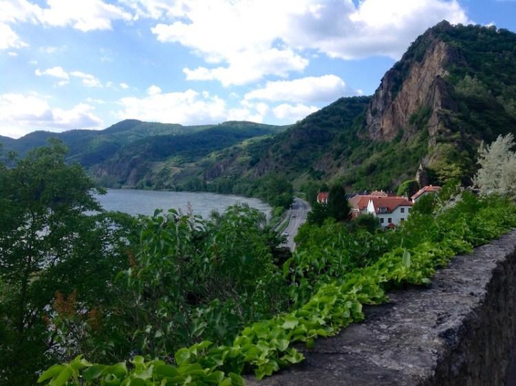 Blick auf die Donau von Dürnstein aus