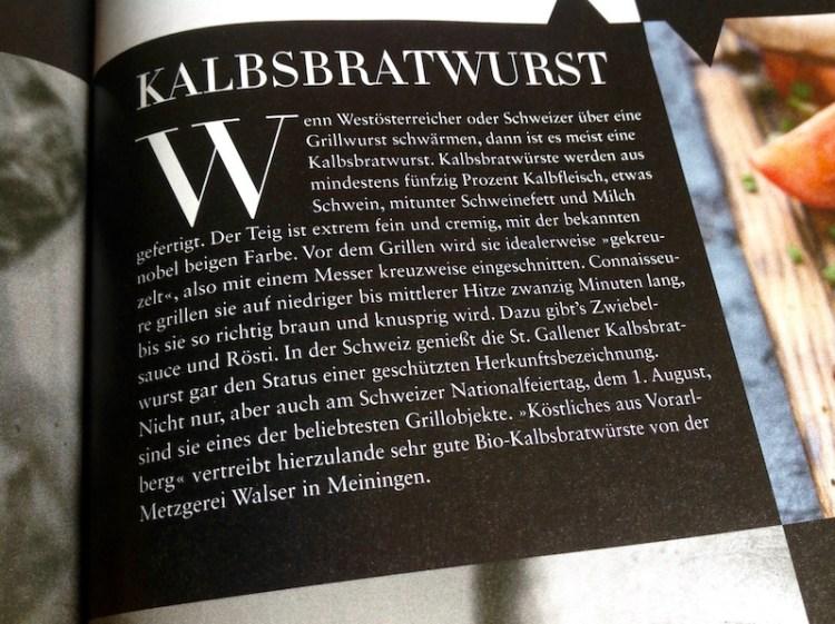 Beitrag über Kalbsbratwurst von der Metzgerei Walser und Köstliches aus Vorarlberg im Falstaff Magazin Ausgabe Juli/August 2017