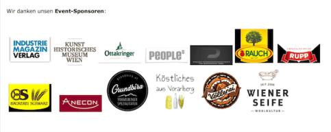 KÖSTLICHES AUS VORARLBERG im Kreise anderer Sponsoren fürs Preisjassen vom Verein der Vorarlberger in Wien
