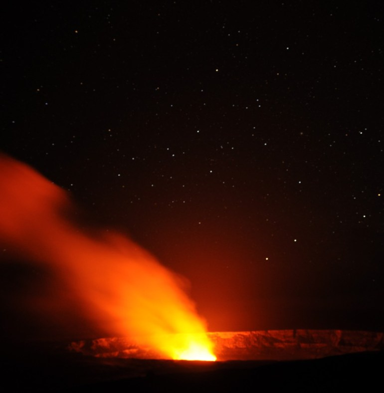 Kilauea by night