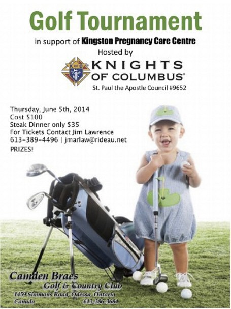 Our Flyer for the 2nd Annual Golf Tournament