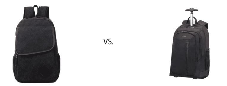 Rucksack mit Rollen: Noname vs. Markenprodukt