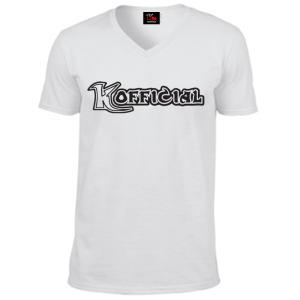 KOfficial V Neck T-Shirt Black classic logo