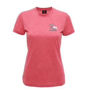 Woman's Melange Performance T-Shirt Pink