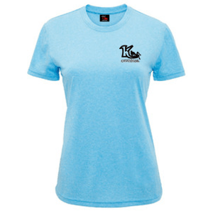 Woman's Melange Performance T-Shirt Turquoise