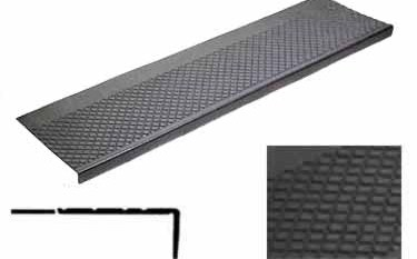 Rubber Stair Treads Non Slip Outdoor Use   Outdoor Tread For Steps   Pressure Treated   Wood   Deck Stairs   Non Slip   Granite