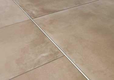 schluter deco tile floor edging profile