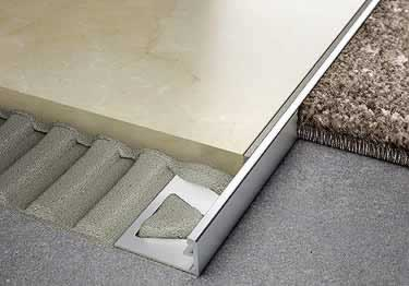 schluter jolly tile edging wall or floor profile color coated aluminum pvc