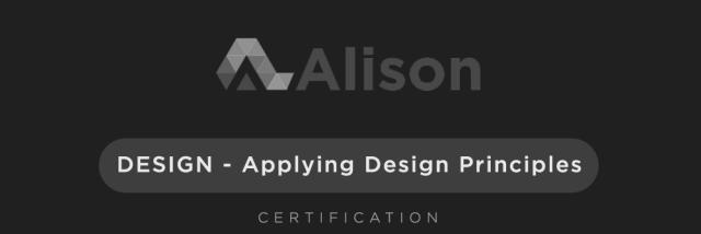 Alison - Applying Design Principles