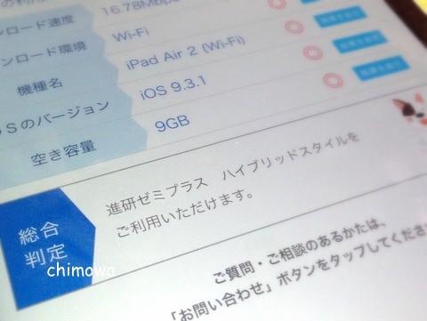 進研ゼミプラス プラス ヘルプデスク アプリ ハイブリッドスタイル利用確認画面の画像