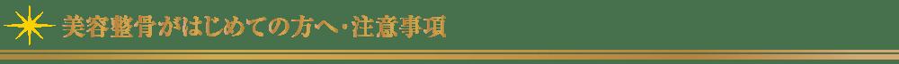 美容整骨がはじめての方へ・注意事項【東京・新宿・小顔矯正・骨盤矯正】WAXPERIENCE