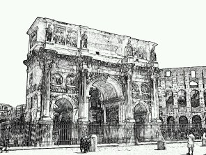 12. Rome in the drawing
